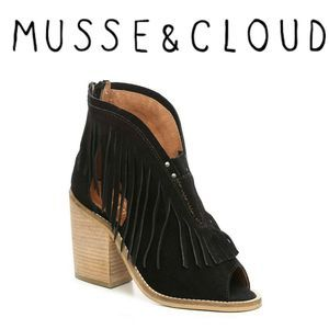 New Musse & Cloud Galia Fringed Heeled Sandals
